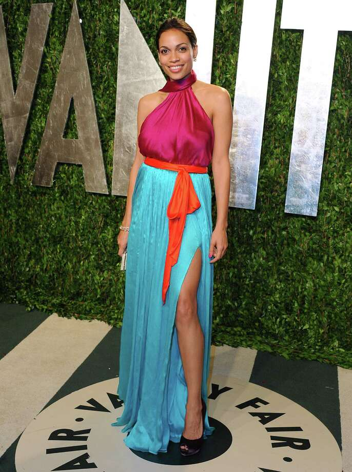 2012 Actress Rosario Dawson attends the 2012 Vanity Fair Oscar Party at Sunset Tower in West Hollywood, California.  Photo: Jon Kopaloff, Getty / 2012 Jon Kopaloff