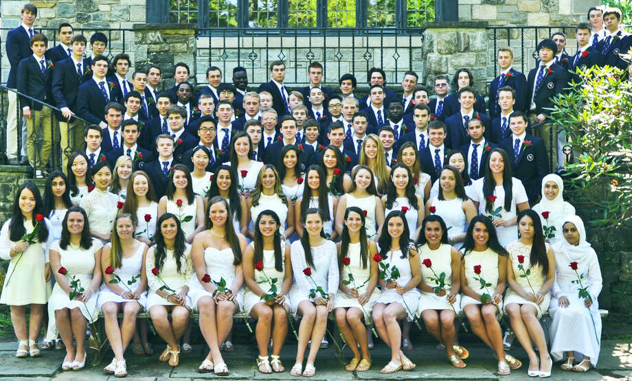 The Gunnery School Class of 2014 poses for the school's traditional graduation portrait in Washington. June 2014  Courtesy of The Gunnery Photo: Contributed Photo / The News-Times Contributed