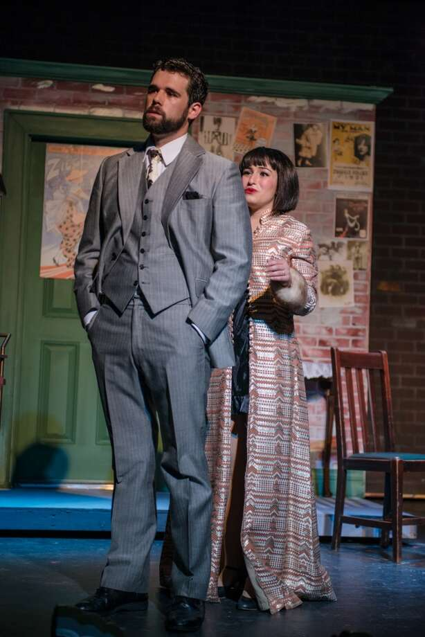 "Carlye Gossen (right, with Alex Trevino) sports an Oscar de la Renta  robe in this scene from the Playhouse San Antonio staging of ""Funny Girl."" Photo courtesy of Siggi Ragnar. Photo: Siggi Ragnar"