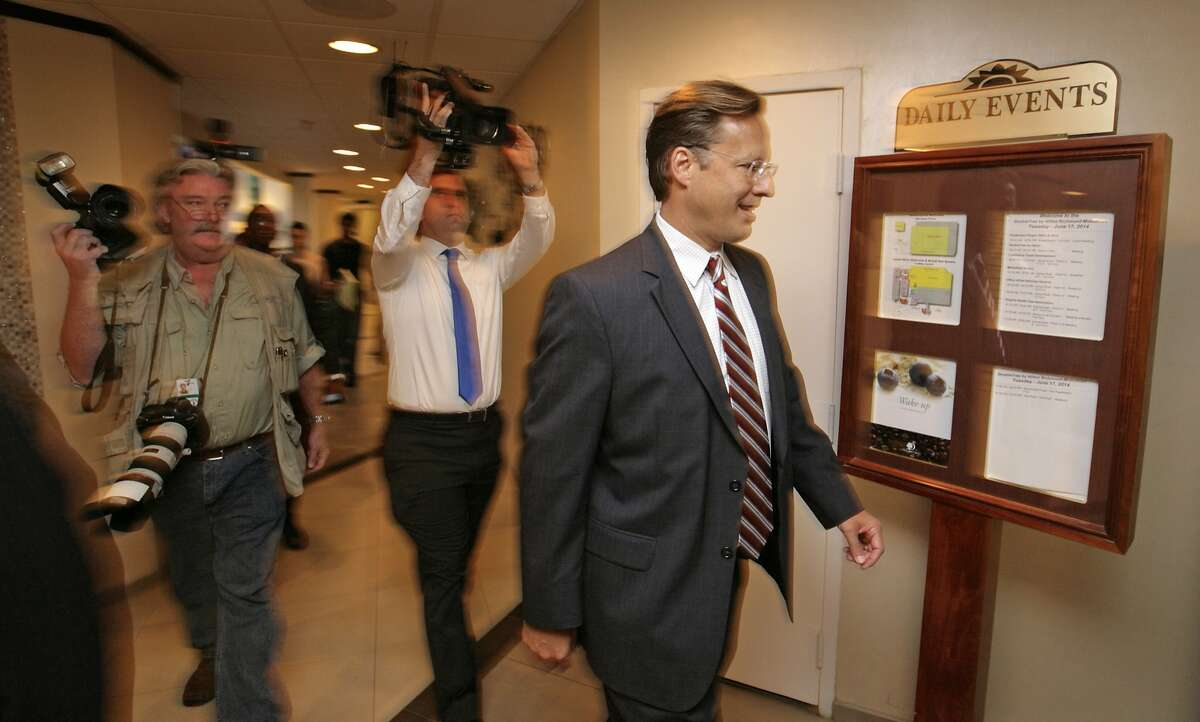 RICHMOND, VA - JUNE 17: Tea Party challenger and economics professor Dave Brat attends the Midlothian Rotary Club breakfast at the Double tree Hotel to speak to the press, June 17, 2014 in Richmond, Virginia. Brat beat Eric Cantor in the GOP primary for Virginia's 7th Congressional district. (Photo by Jay Paul/Getty Images)