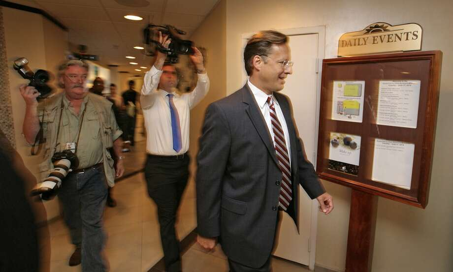 Economics Professor Dave Brat attends the Midlothian Rotary Club breakfast in Richmond, Va. He is the Republican candidate for the House seat currently held by Eric Cantor. Photo: Jay Paul, Getty Images