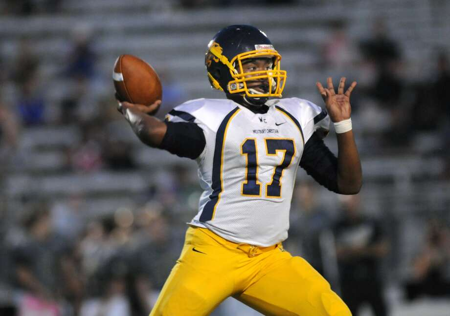Westbury Christian quarterback Xavier Simon will be back this fall to lead the Wildcats on the field under new coach Mark Krimm. Photo: Jerry Baker, Freelance