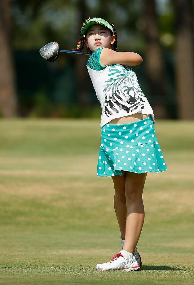 Lucy Li, an 11-year-old amateur golfer from Redwood Shores, is competing at the U.S. Women's Open this week. Photo: Scott Halleran, Getty Images