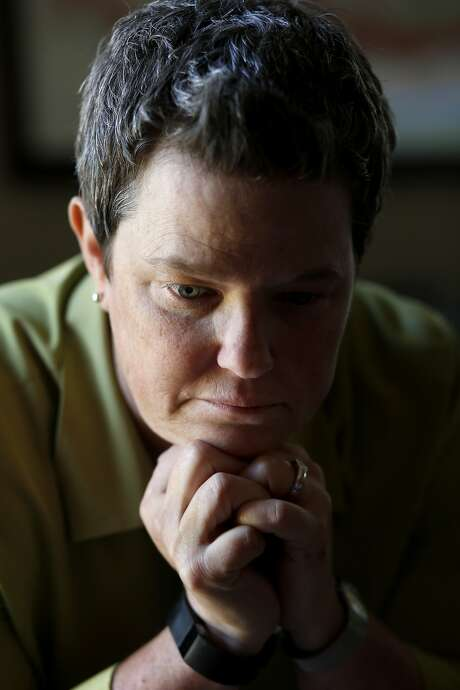 "Navy veteran Kelly McFarland of Livermore said the latest events in Iraq are ""a big letdown."" Photo: Brant Ward, San Francisco Chronicle"