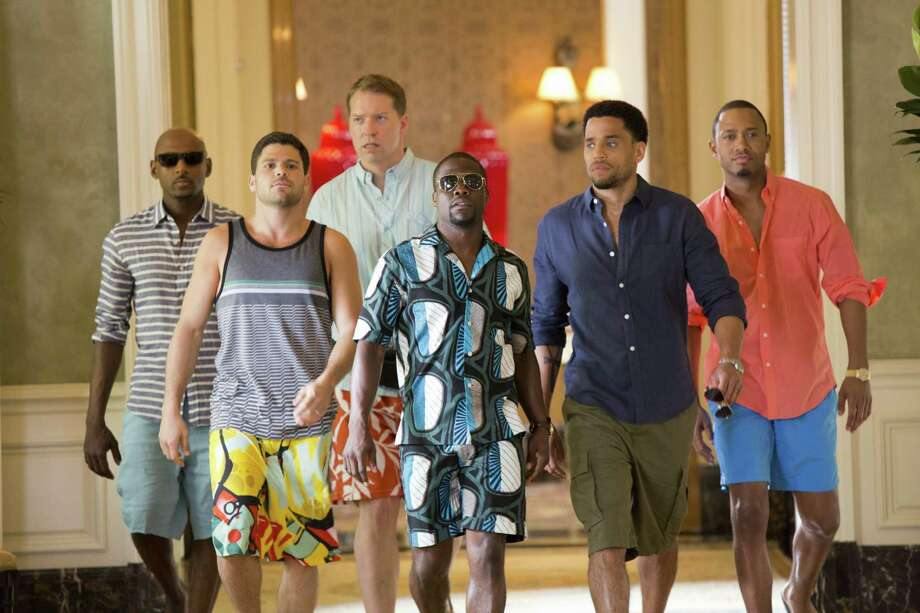 Zeke (Romany Malco), Bennett (Gary Owen) , Michael (Terrence J), Jeremy (Jerry Ferrara), Zeke (Romany Malco) and Dominic (Michael Ealy) walk down the hallway of Caesar's Palace in Screen Gems' THINK LIKE A MAN TOO. Photo: Matt Kennedy, THINK LIKE A MAN TOO / © 2014 Screen Gems Productions, Inc.  All Rights Reserved.  **ALL IMAGES ARE PROPERTY OF SONY PICTURES ENTERTAINMENT INC. FOR P
