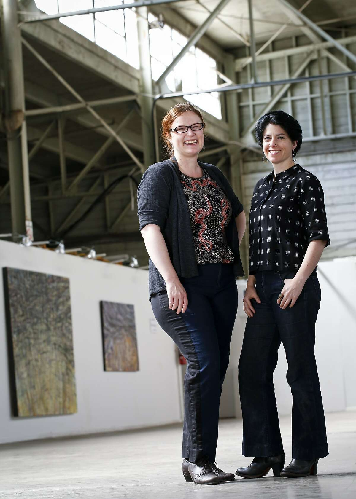 Kyra, left, and Bree Hylkema of Vermeulen and Co. are seen on Tuesday, June 17, 2014 in Oakland, Calif., at American Steel where they have their studio.