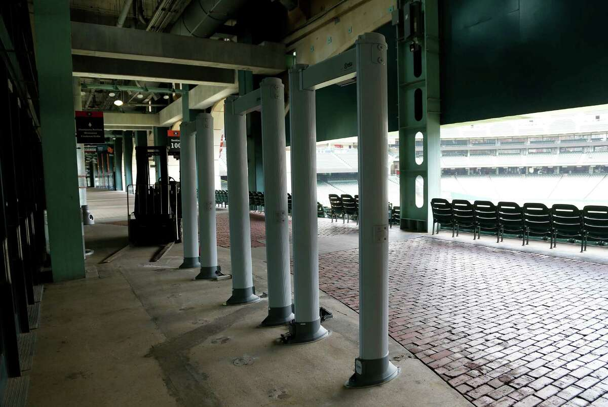 Metal detectors were being installed at Minute Maid Park on Tuesday after the Houston Astros announced new enhanced security measures at the stadium, in accordance with Major League Baseball guidelines.