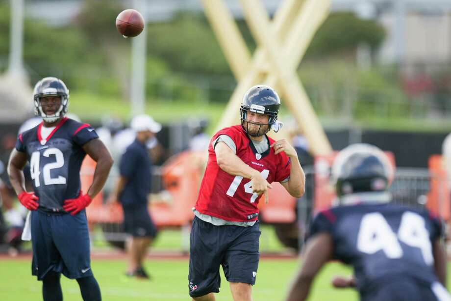 Tuesday's beginning of Texans minicamp also marked the start of Ryan Fitzpatrick's tenure as starting quarterback. Coach Bill O'Brien cited Fitzpatrick's preparation, accuracy and command at the line of scrimmage. Photo: Brett Coomer, Staff / © 2014 Houston Chronicle
