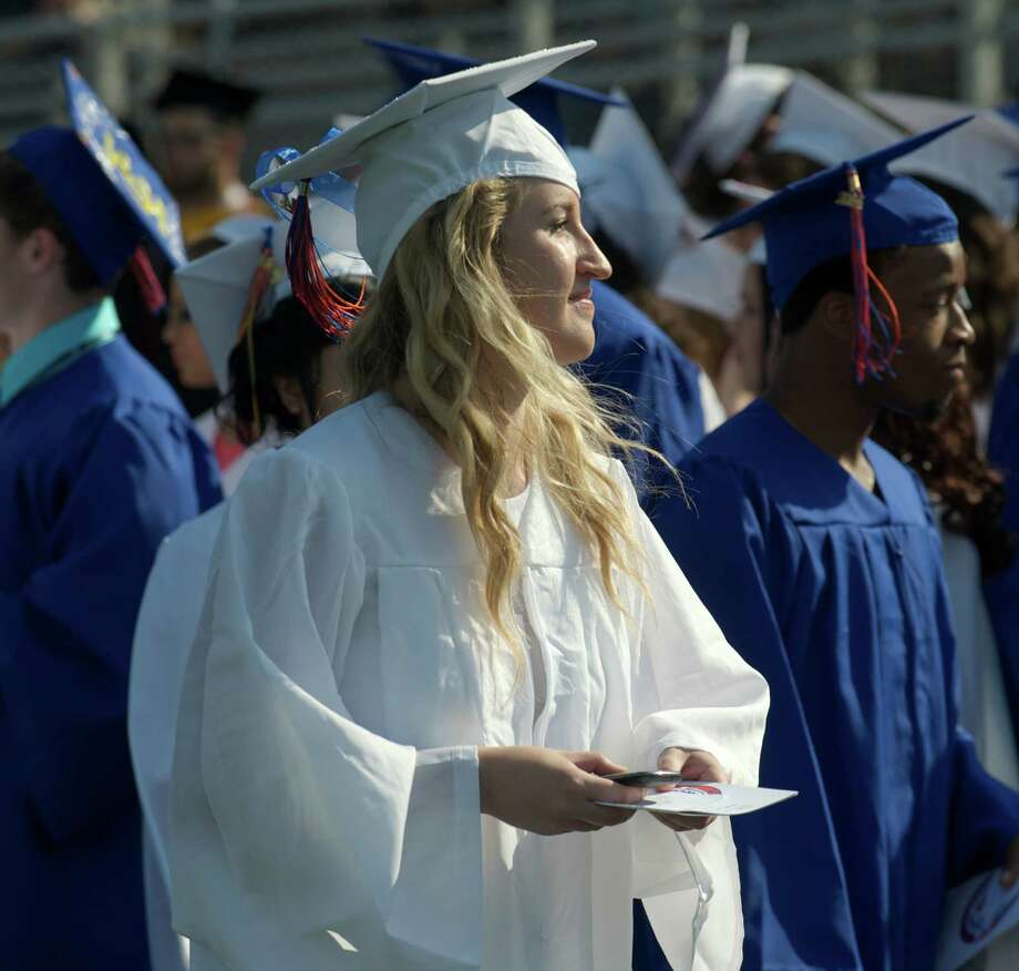 The Danbury High School 2014 Commencement Exercises, held at the high school on Tuesday, June 17, 2014, in Danbury Conn. Photo: H John Voorhees III / The News-Times Freelance