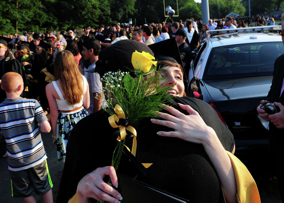 Jonathan Law High School's Class of 2014 Graduation Ceremony in Milford, Conn. on Tuesday June 17, 2014. Photo: Christian Abraham / Connecticut Post