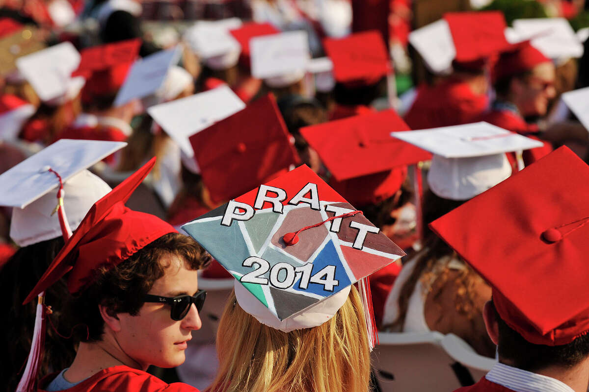 Scenes from the New Canaan High School graduation ceremony at New Canaan High School in New Canaan, Conn., on Tuesday, June 17, 2014.