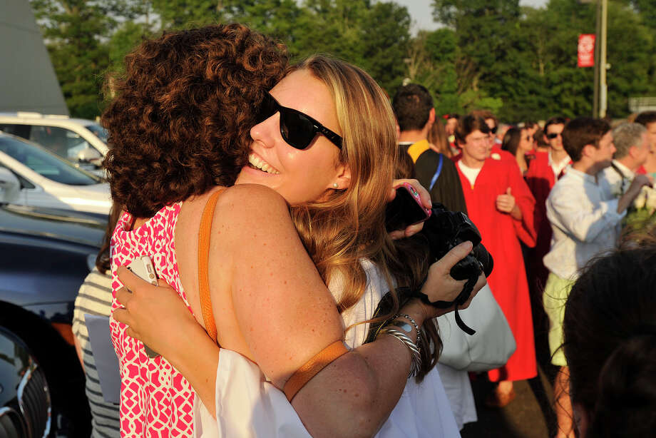 Scenes from the New Canaan High School graduation ceremony at New Canaan High School in New Canaan, Conn., on Tuesday, June 17, 2014. Photo: Jason Rearick / Stamford Advocate