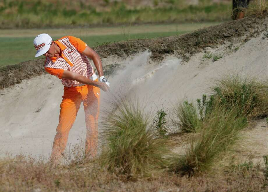 Rickie Fowler hits out of the bunker on the seventh hole during the final round of the U.S. Open golf tournament in Pinehurst, N.C., Sunday, June 15, 2014. (AP Photo/Matt York) ORG XMIT: NCCC175 Photo: Matt York / AP