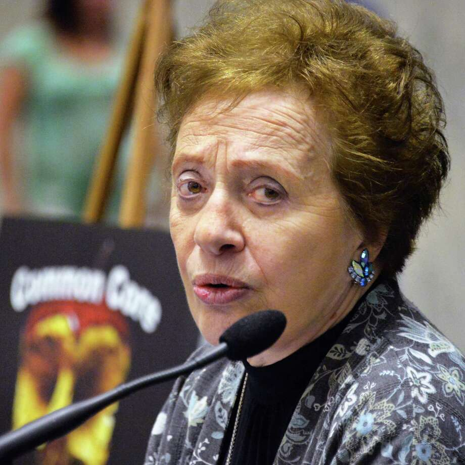 Nationally known opponent of the Common Core educational standards, Sandra Stotsky calls for the state to scrap the standards and replace them with an alternative Tuesday, June 17, 2014, during a rally in the Well of the Legislative Office Building in Albany, N.Y.  (John Carl D'Annibale / Times Union) Photo: John Carl D'Annibale / 00027370A