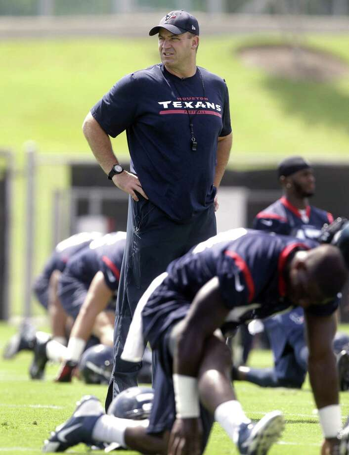 Texans coach Bill O'Brien says Ryan Fitzpatrick beat out the other three quarterbacks on the roster. Photo: Patric Schneider / Associated Press / FR170473 AP