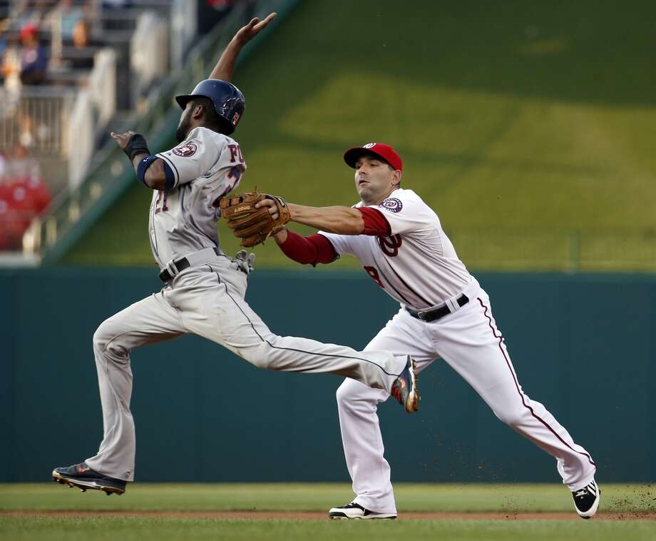 June 17: Nationals 6, Astros 5Dallas Keuchel wasn't on his game and Jose Altuve's 4-hit return to the lineup wasn't enough to save the Astros in the loss in the opener of a two-game interleague series in Washington.  Record: 32-40. Photo: Alex Brandon, Associated Press