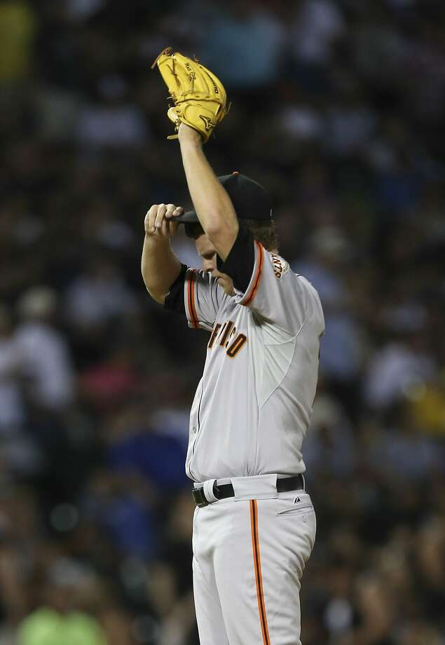 "Matt Cain will have bone chips removed from his right elbow. ""He could have kept trying to push it, but it was inevitable,"" Bruce Bochy said. Photo: Nuccio DiNuzzo, McClatchy-Tribune News Service"
