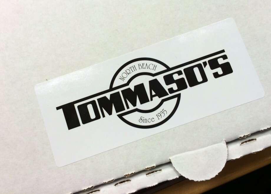The Tommaso's pizza box