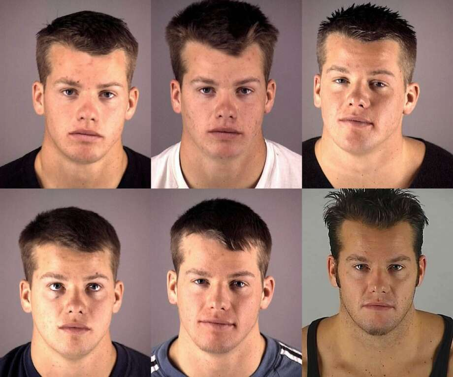 Various mugshots of James Henrikson, dating from July 2000 to December 2009. Photo: Deschutes County Jail, Bloomberg