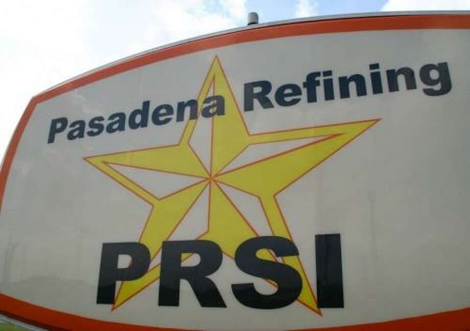 A sign near the entrance marks Petrobras America's Ship Channel refinery, operated as Pasadena Refining System Inc. Photo: Petrobras America