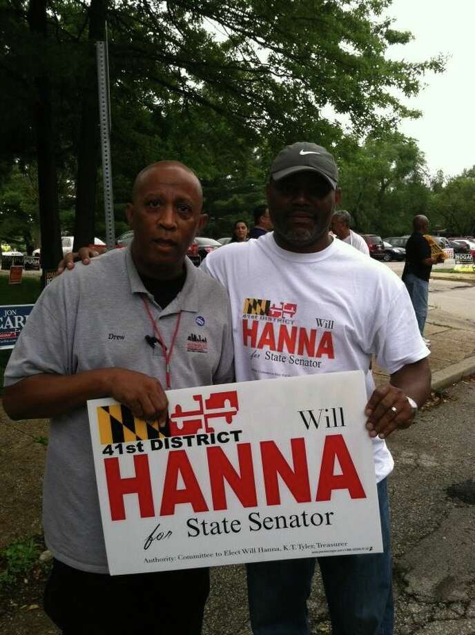 Hanna campaigning in Baltimore. Photo: Courtesy Facebook