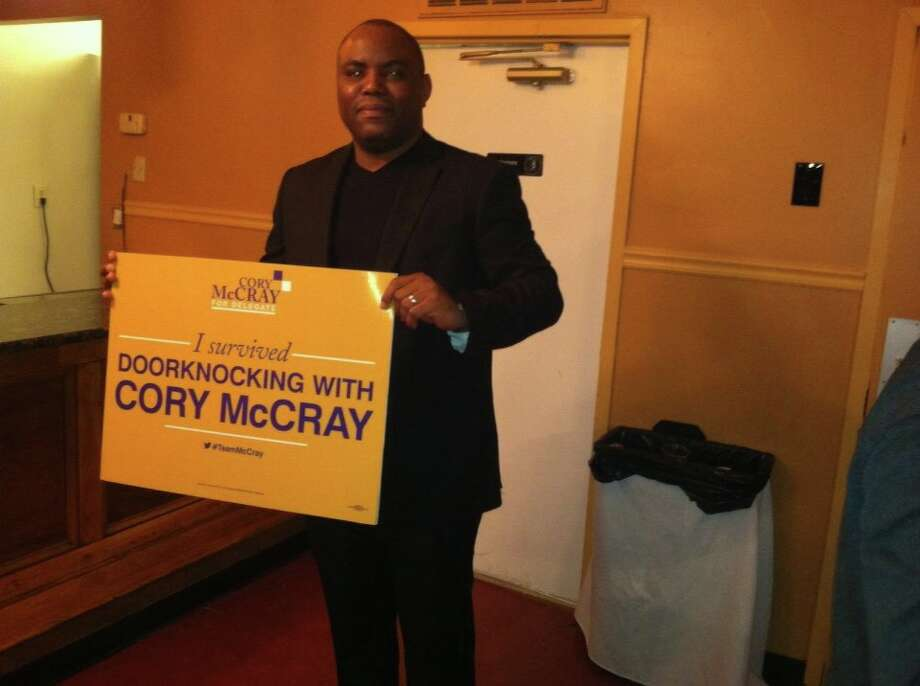 Hanna supporting Cory McCray in the 45th District. Photo: Courtesy Facebook