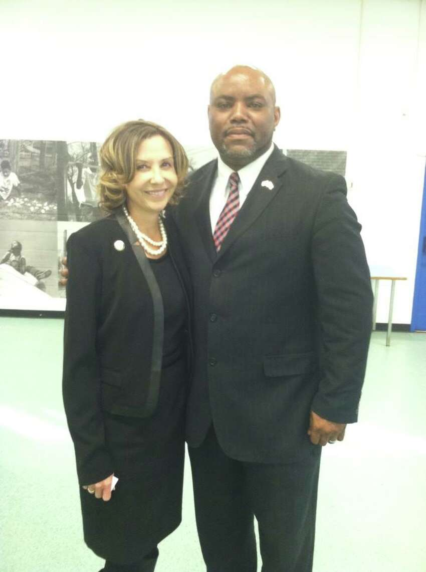 Maryland state Senate candidate Will Hanna, pictured with lieutenant governor candidate Jolene Ivey
