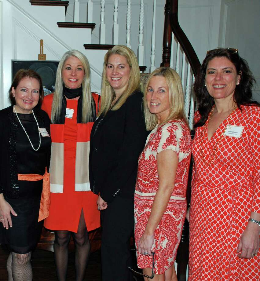 YWCA Darien/Norwalk board member Deb Papaeconomou,  executive director Heather Cavanagh and board members Mia Mihopoulos, Deirdre McGovern and Beth Cherico attended the recent alumni cocktail party where the new Inspire Club was introduced. The first event of Inspire, a club created to reconnect formerly active YWCA members, is Thursday, June 26, at The Goose at 972 Post Road in Darien. Photo: Contributed Photo, Contributed / Darien News