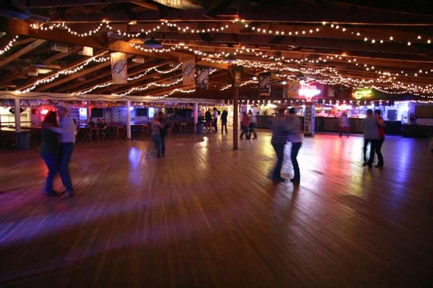 Inside the dance hall.