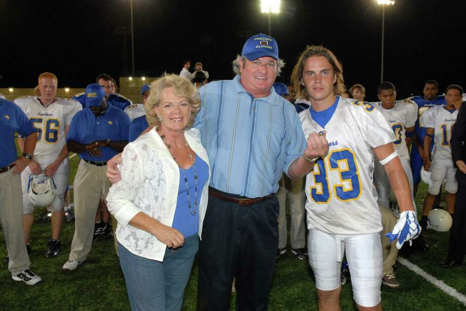 "... and went on to a much bigger role as Dillon High School super-booster Buddy Garrity on ""Friday Night Lights"" (which is also based in Texas). Photo: Bill Records, NBCU Photo Bank Via Getty Images / © NBC Universal, Inc."