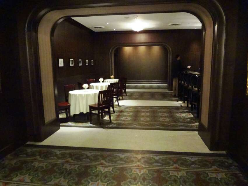 Old tile floors were discovered under carpeting in the St. Anthony Club.