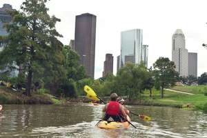 A new app leads to activities in the great outdoors in and around Houston, such as a kayak trip down Buffalo Bayou or in bays and lagoons near Galveston.