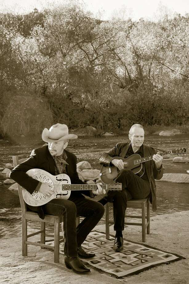 Reunited Blasters Dave (left) and Phil Alvin will play Saturday at Great American Music Hall. Photo: Mongrel Music
