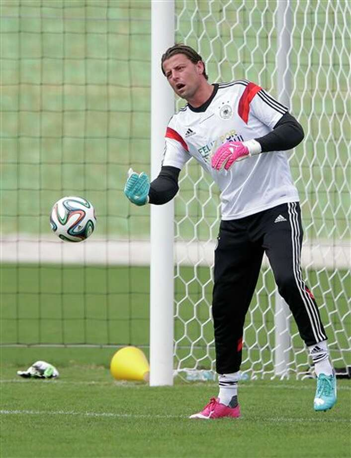 (6) Roman Weidenfeller of Germany.  A goalie named Roman? He should be like many soccer  players in Europe and South America and just go by one name. It's that good. (AP  Photo/Matthias Schrader) (AP Photo/Matthias Schrader)