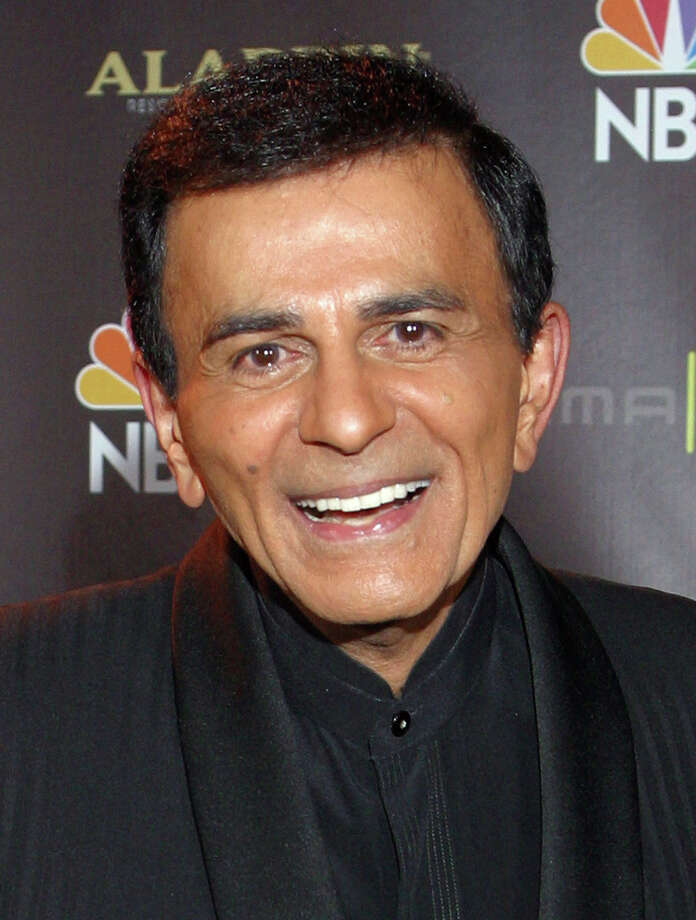 FILE - In this Oct. 27, 2003 file photo, Casey Kasem poses for photographers after receiving the Radio Icon award during The 2003 Radio Music Awards at the Aladdin Resort and Casino in Las Vegas. Kasem, the smooth-voiced radio broadcaster who became the king of the top 40 countdown, died Sunday, June 15, 2014, according to Danny Deraney, publicist for Kasem's daughter, Kerri. He was 82. (AP Photo/Eric Jamison, file) Photo: Eric Jamison, STR / AP