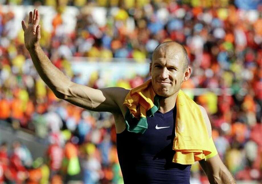 (4) Arjen Robben of the Netherlands. Pronounced Ar-jen Ro-ben. Good balance, flow, and it sounds really good. He just looks like an Arjen.  (AP  Photo/Fernando Vergara)