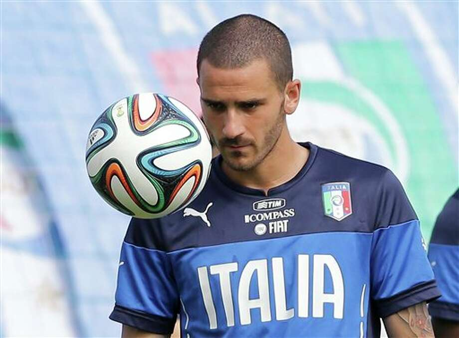 (7) Leonardo Bonucci of Italy. Soccer player. Italy. Leonardo. Enough said. (AP Photo/Antonio Calanni)