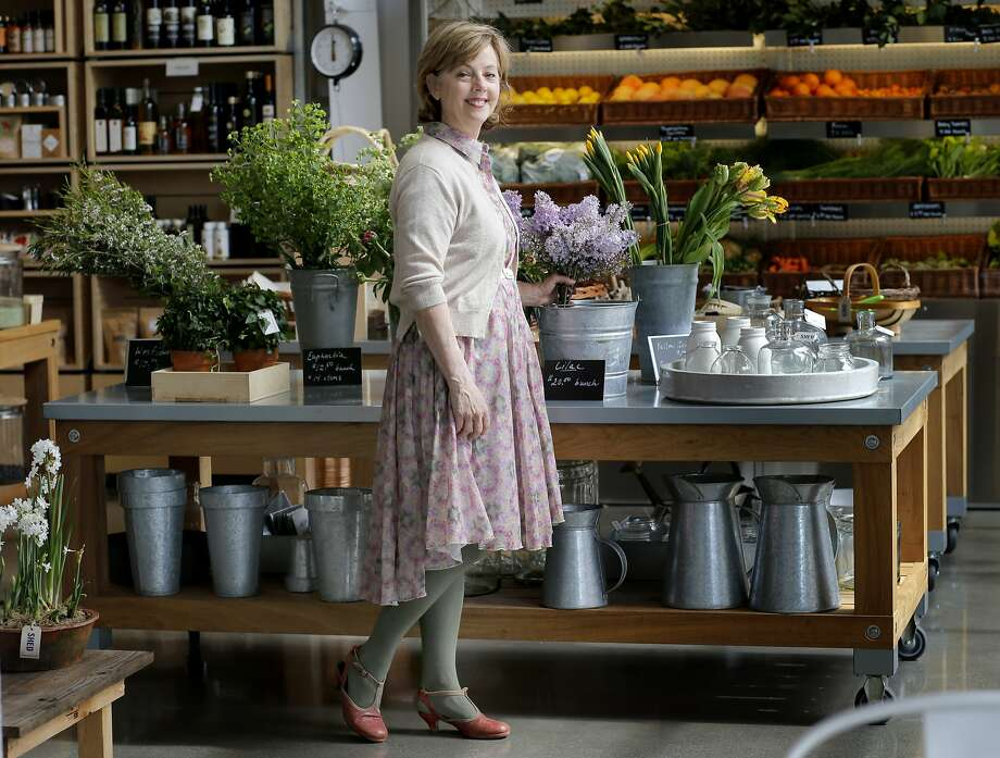 Cindy Daniel stands near a floral display in her store SHED Wednesday March 26, 2014 in Healdsburg, Calif. Cindy Daniel is the owner of the popular store SHED near the town square in Healdsburg, Calif. Photo: Brant Ward, The Chronicle