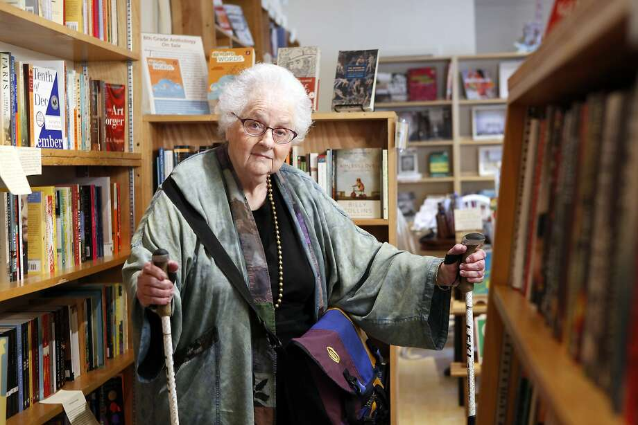 June Fisher at San Francisco's Folio Books, where she says she spends most of her money. Photo: Michael Short, The Chronicle