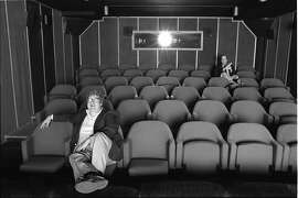 "Roger Ebert, left, and Gene Siskel in a still from ""Life Itself""  Gene Siskel and Roger Ebert in screening room for photo shoot for People Weekly, June 13, 1984; Chicago"