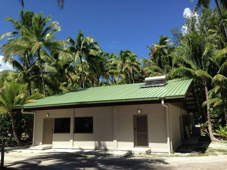 "The Brando, opening July 1, shares an islet on the atoll of Tetiaroa with the nonprofit Tetiaroa Society, whose Ecostation (pictured) hosts ""wet"" and ""dry"" labs for researchers studying marine life, the ocean and the environment. Photo: Tetiaroa Society"