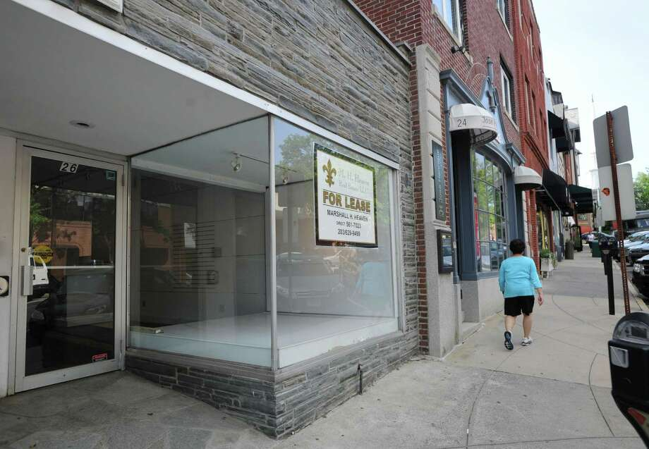 A vacant store front at 26 Greenwich Ave., in Greenwich, Conn., Wednesday, June 18, 2014. Photo: Bob Luckey / Greenwich Time