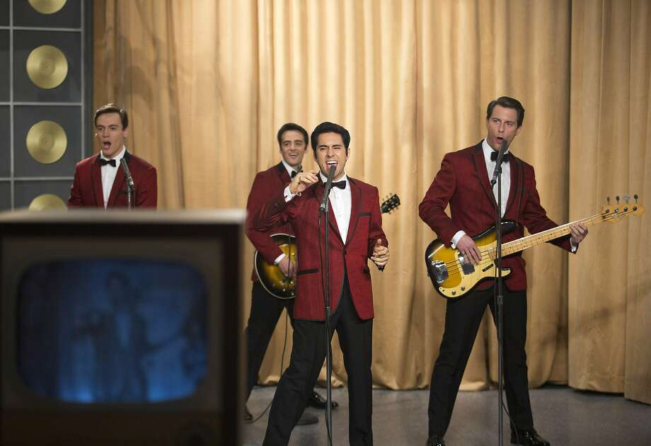 Starring as the Four Seasons are Erich Bergen (left), Vincent Piazza, John Lloyd Young and Michael Lomenda. Photo: Keith Bernstein, Associated Press