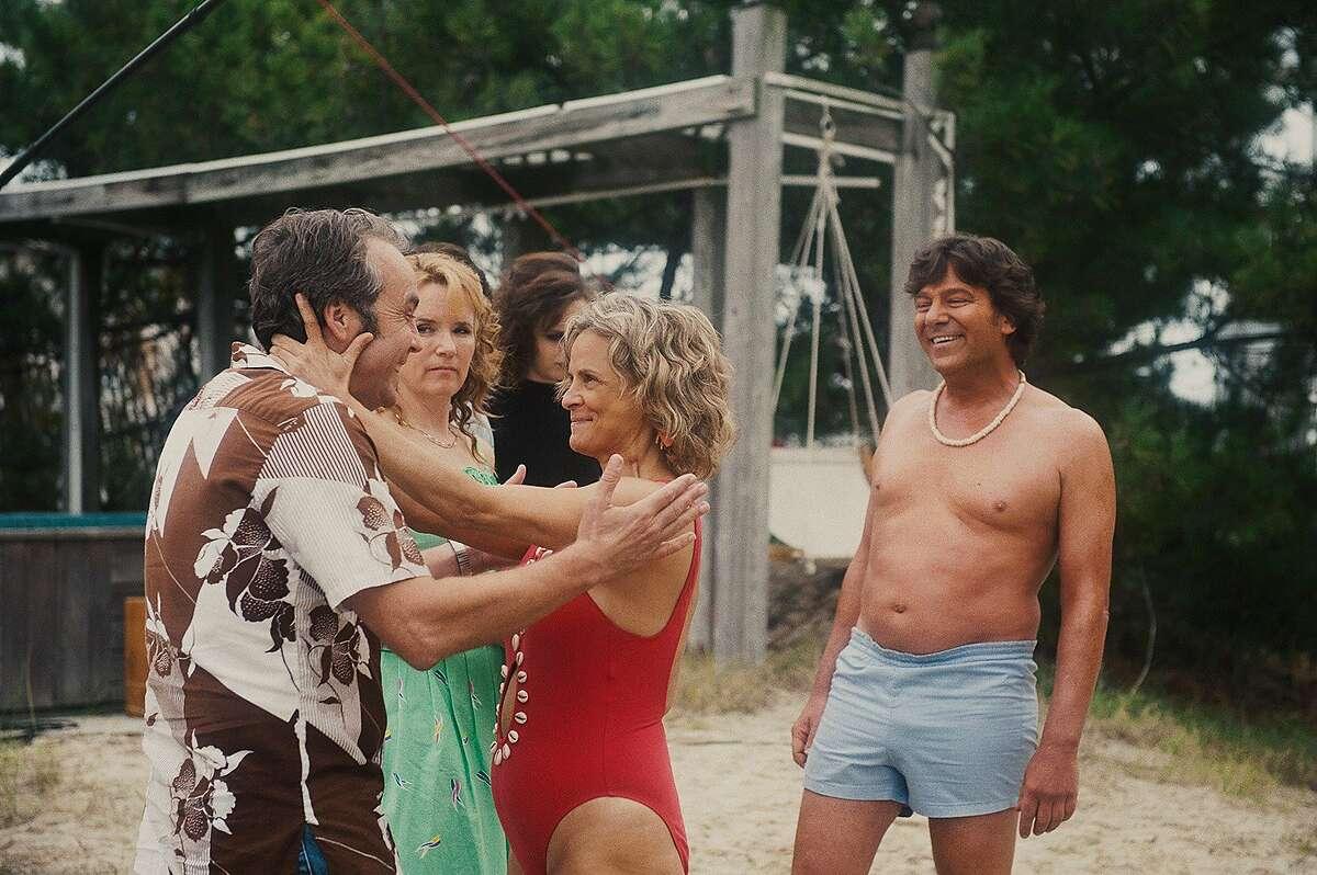 """Lea Thompson, John Hannah and Amy Sedaris in, """"Ping Pong Summer."""""""