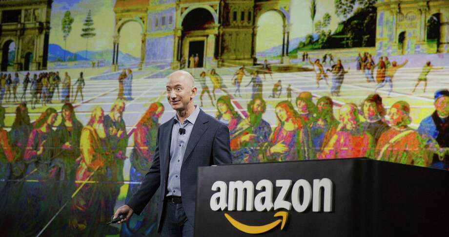 """Jeff Bezos, Amazon's founder and chief executive, said the company's leaders asked themselves only one question about creating a telephone: """"Can we build a better phone for our most engaged customers?"""" Photo: Photos By Mike Kane / Bloomberg / © 2014 Bloomberg Finance LP"""