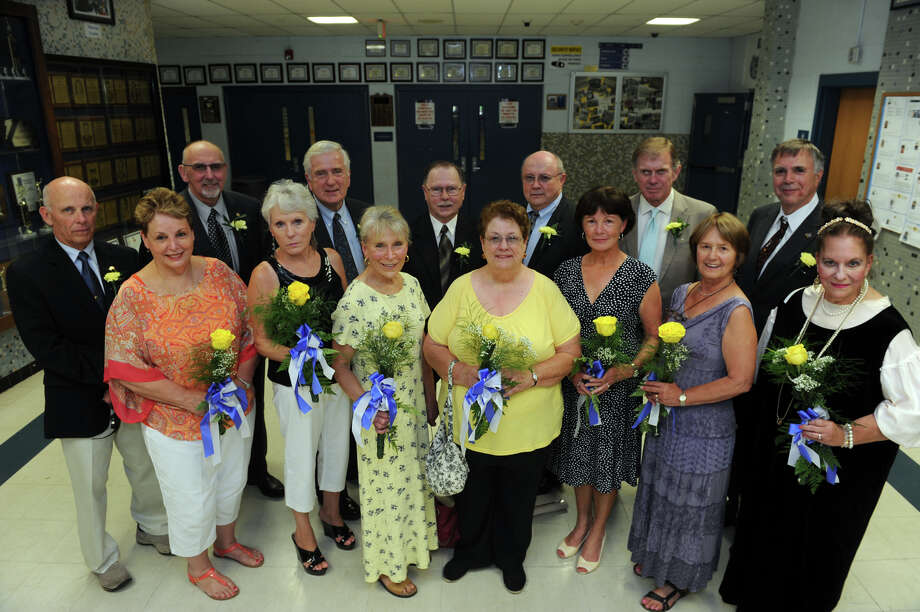 Members of the 1964 class were honored guest at the commencement for the Frank Scott Bunnell High School Class of 2014, in Stratford, Conn. June 18, 2014. Photo: Ned Gerard / Connecticut Post