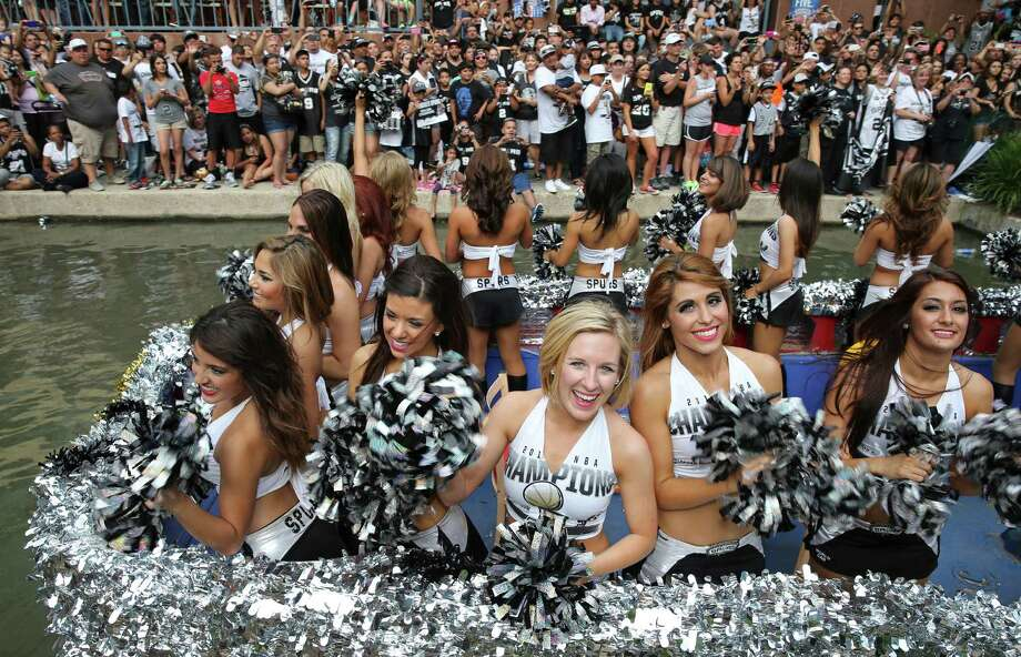 San Antonio Spurs Silver Dancers take part in the river parade, Wednesday June 18, 2014, for the San Antonio Spurs after the team captured their fifth NBA championship. Photo: Edward A. Ornelas, San Antonio Express-News / © 2014 San Antonio Express-News