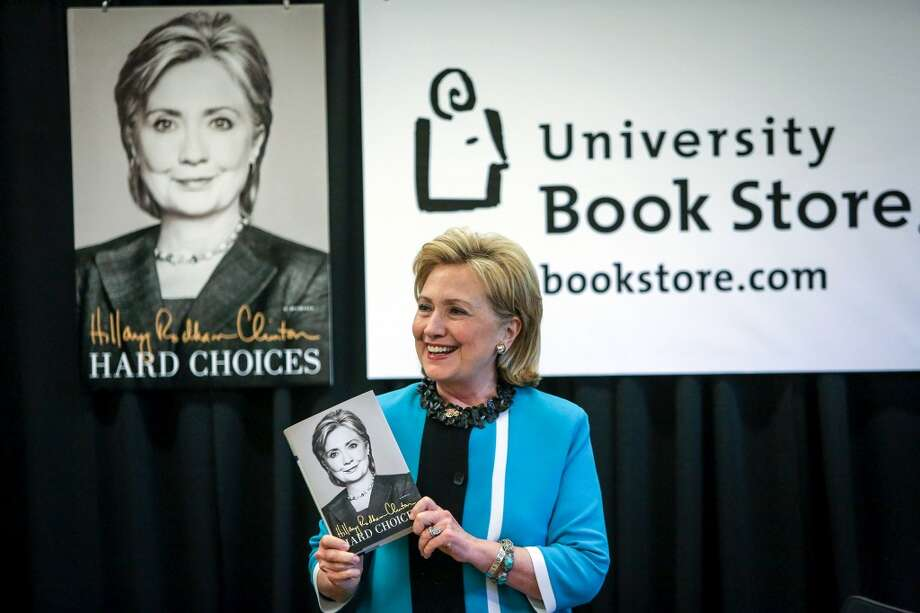 The only semi-public event for Hillary Clinton on visits over the last eight years was a 2014 signing of her book Hard Choices.  She has otherwise attended big budget fundraisers, the latest slated next Tuesday at the home of Costco co-founder Jeff Brotman.  Private reception costs as much as $50,000. (Joshua Trujillo, seattlepi.com) Photo: SEATTLEPI.COM