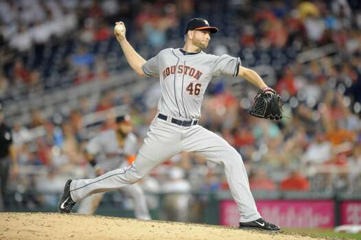 June 18: Nationals 6, Astros 5  Scott Feldman's strong start wasn't enough to prevent a sweep in the nation's capital.  Record: 32-41. Photo: Mitchell Layton, Getty Images