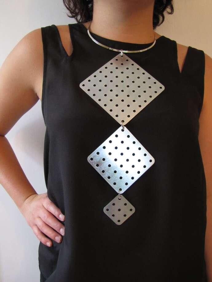 Square statement necklace, $20, Hardwear, Facebook.com/HardwearbyChelsey